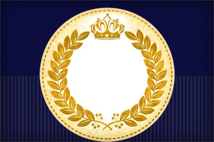 Vamos imprimir e fazer uma linda festa com o tema Coroa Príncipe Azul Marinho? Com o nosso novo kit festa gratuito você pode fazer uma linda festa
