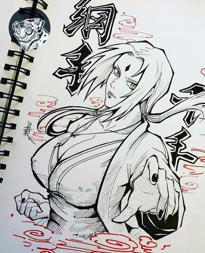 Tsunade Senju Com Imagens Desenhos De Tatuagem Tribal