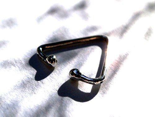Non-pierced Silver Triangle Earring, Hoop Type 10mm, Cart... https://www.amazon.com/dp/B01BQKU3FO/ref=cm_sw_r_pi_dp_x_QMYBzb9YHTQSF