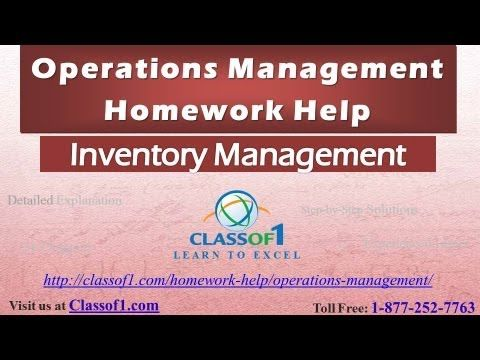 Visit http://classof1.com/homework-help/operations-management-homework-help/ to get customized help for your operations management assignments.  Just-in-case Inventory Management: Inventory management is concerned with managing inventory costs. Three types of inventory costs can be readily identified with inventory: cost of acquiring and holding inventory, and cost of not having inventory when required.