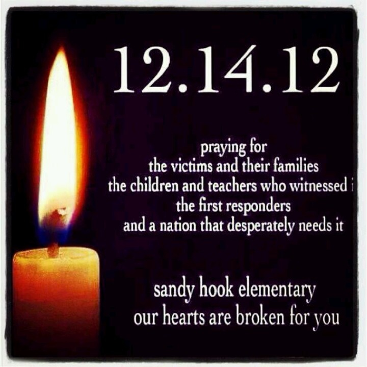 My heart still grieves for the families, friends and the community of Sandy Hook Elementary.: