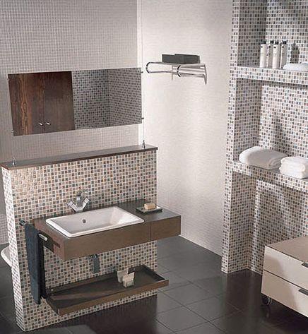 25 beste idee n over badkamer tegels ontwerpen op pinterest leisteen tegels in de badkamers - Alicatado de banos modernos ...