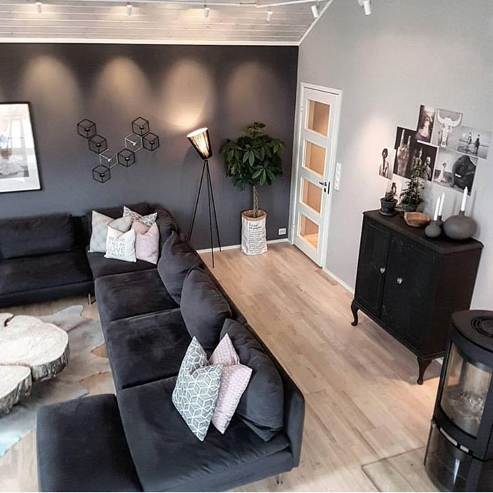 For Black Lovers. Perfect studio living room. Less accessories makes it more spacious. Minimal decoration. Let the black vibes flow. Picture via @norwegianfairytale  #decor #livingroom #livingroomdecor #livingroomdesign #designer #furniture #black #blackpower #blackstyle #cushions #sofa #sydney #manly #melbourne #india #people #inspo #inspiring #goals #goodvibes #decorinspiration #decorations #follow4follow #tagsforlikes #tflers #follow4follow #shoponline #buyonline #decor8or_online