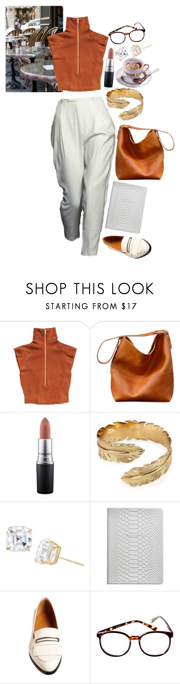"""Untitled #881"" by brooklynrebelle ❤ liked on Polyvore featuring Doo.Ri, H&M, MAC Cosmetics, Melinda Maria, Gioelli, GiGi New York, Balenciaga, fred flare, Lunch and weekendoutfit"