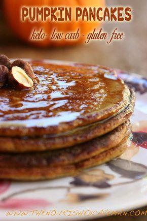 Keto, Low-carb and Gluten Free Pumpkin Pancakes