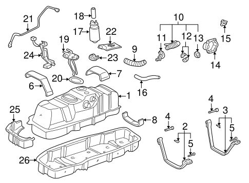 FUEL SYSTEM/FUEL SYSTEM COMPONENTS for 2003 Toyota Tundra