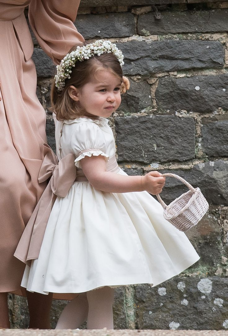 20 May 2017 - Princess Charlotte of Cambridge at the wedding of Aunt Pippa Middleton and new Uncle JamesMatthews.