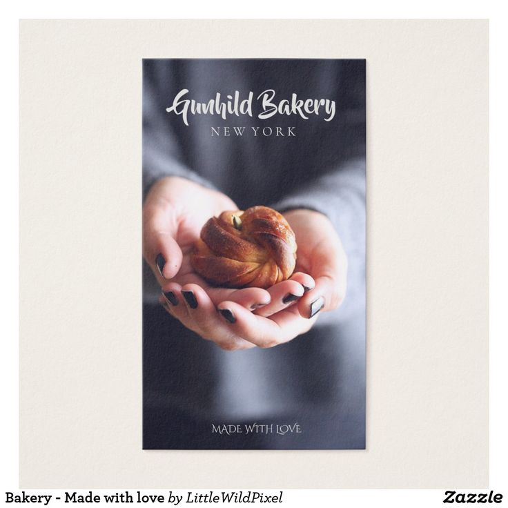 Bakery - Made with love business card - design