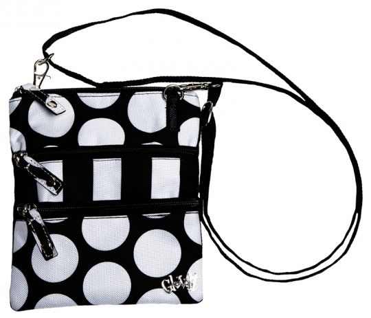 Mod Dot Glove It Ladies Convertible Cross Body 3 Zip Bag now at one of the top shops for ladies golf accessories #lorisgolfshoppe