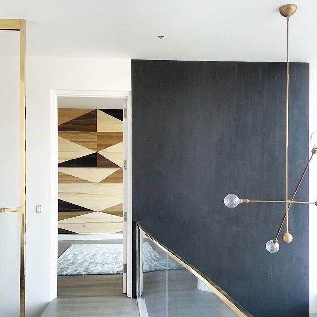 A master bedroom for master interiors. Fromental custom handpainted silk ponti wallpaper and Carini Lang fish skin carpet via andygoldsborough.jpg