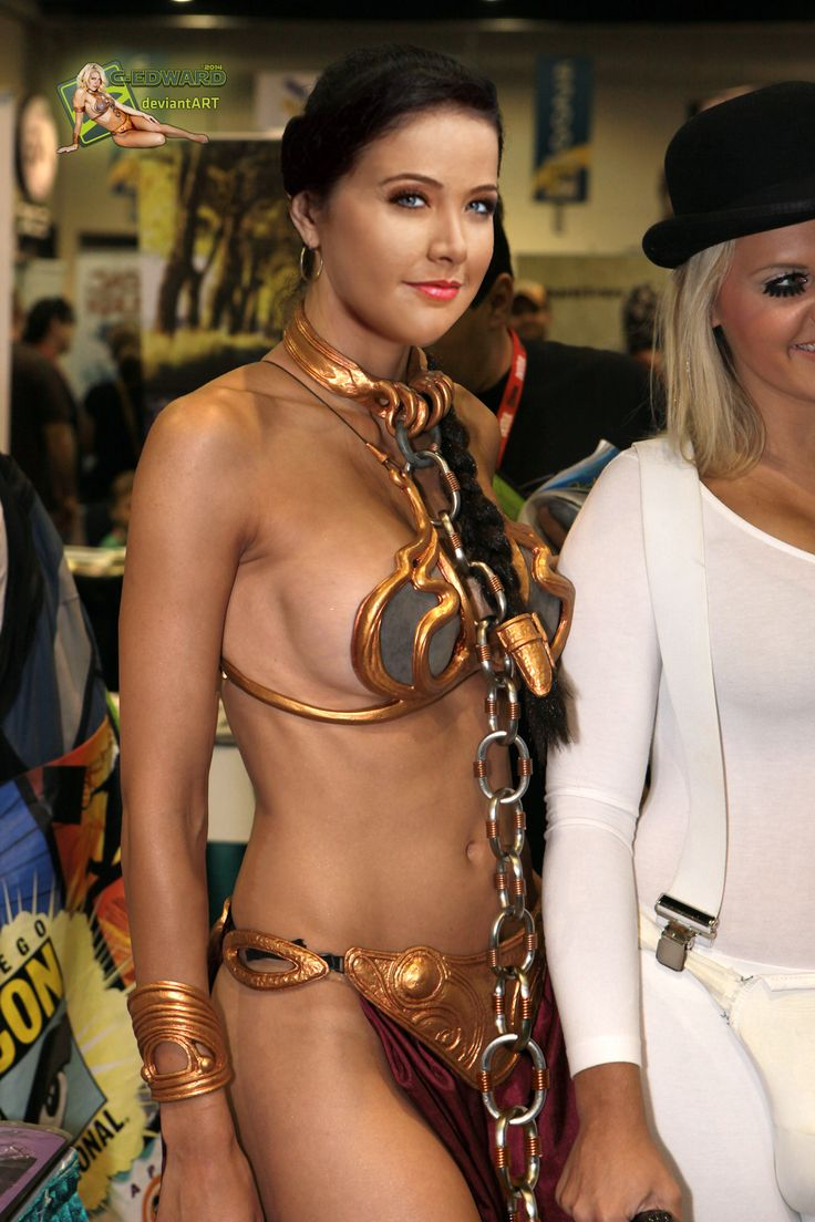 Me! star wars princess leia slave girl cosplay thanks for