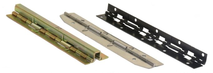 Spring Loaded Piano Hinges Continuous Hinges We Can Make The Custom Spring Piano Hinge That You Are Looking For Ju Continuous Hinges Hinges Types Of Hinges