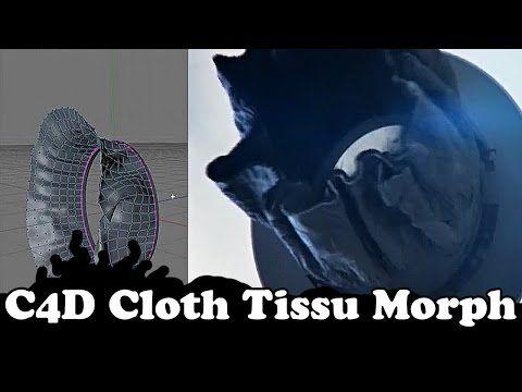 Cinema 4D Tutorial : Cloth / Tissu Morphing Motion Design / Graphics - YouTube