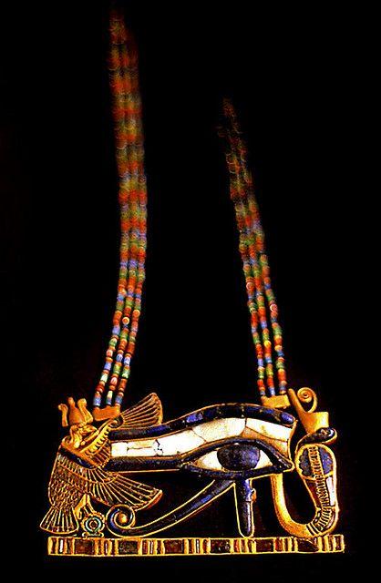 """Eye of Horus"" pendant - Tutankhamun's necklace by Andy Dossett, via Flickr"
