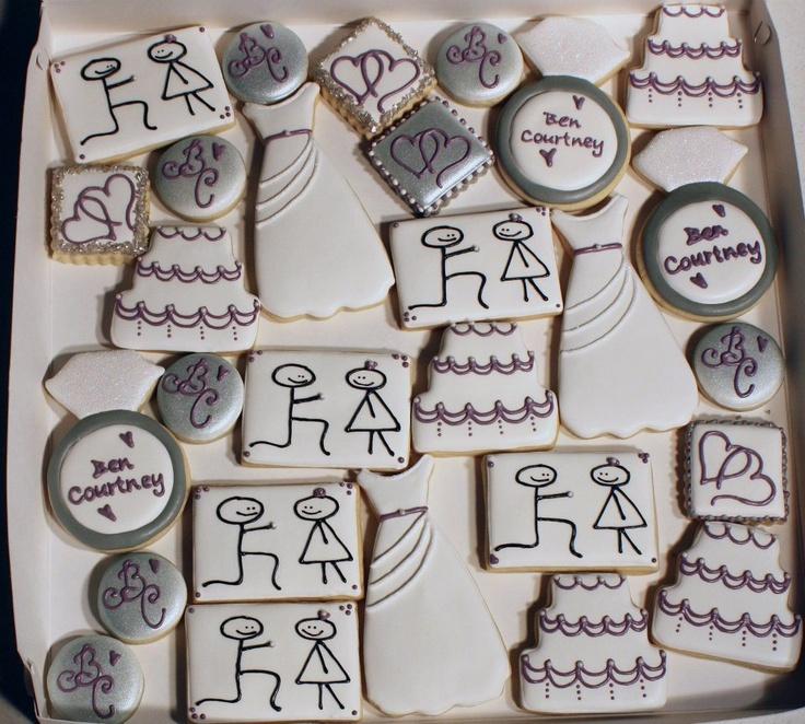 77 Best Wedding Cookies Images On Pinterest