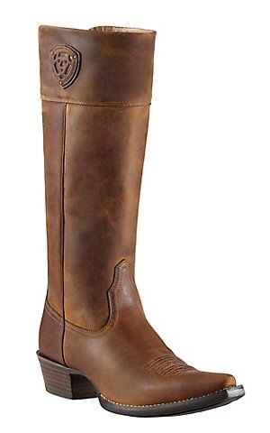 Ariat® Chandler™ Women's Distressed Brown Tall Top Snip X-Toe Western Boots | Cavender's