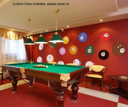 Stickerbrand Home Décor Vinyl Wall Art Billiard Balls Pri... Https://