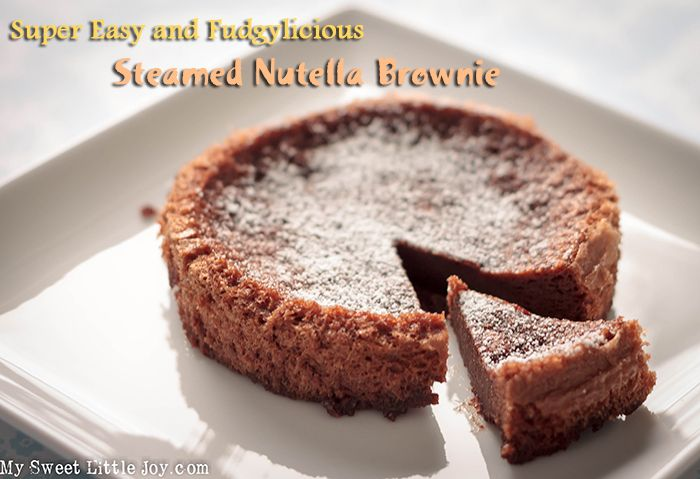 Kick your chocolate craving with this super easy two ingredient Steamed Nutella Brownie recipe! #2ingredientnutellacake #chocolatelover