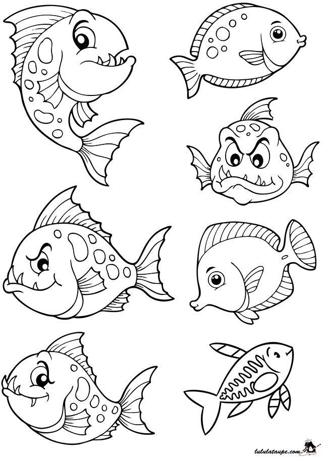 Poissons d'Avril amusants à colorier et à découper | Coloriage poisson, Poisson d avril dessin ...