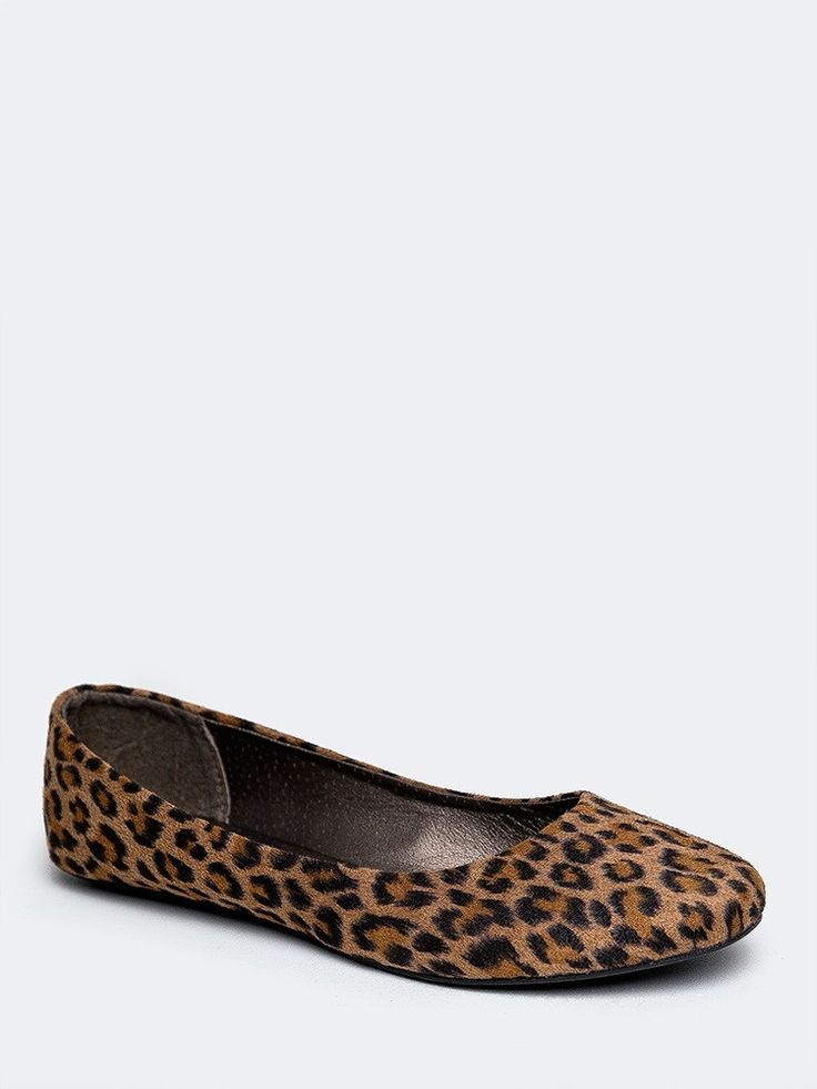 BALLET-1083 FLAT | ZOOSHOO  Leopard print flats!  Yes please!!  I like a more rounded toe as opposed to the pointed toe.