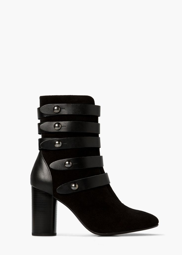 Buckled suede ankle boot | MANGO