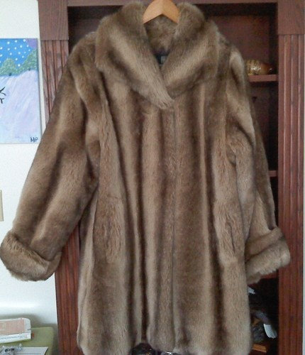 'Brown Faux Fur Coat - a winter warmer' is going up for auction at 11am Sat, Dec 22 with a starting bid of $35.