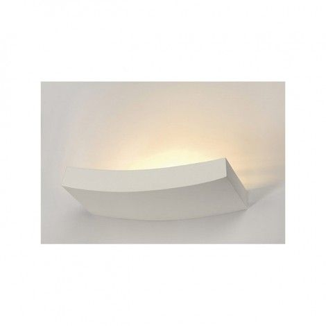 Wandlampen - Wandlamp, GL 102 CURVE, wit gips, R7s 78mm, max. 100W