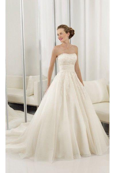 Prinzessin Organza Ivory Hochzeitskleid Brautmode Mit Spitze