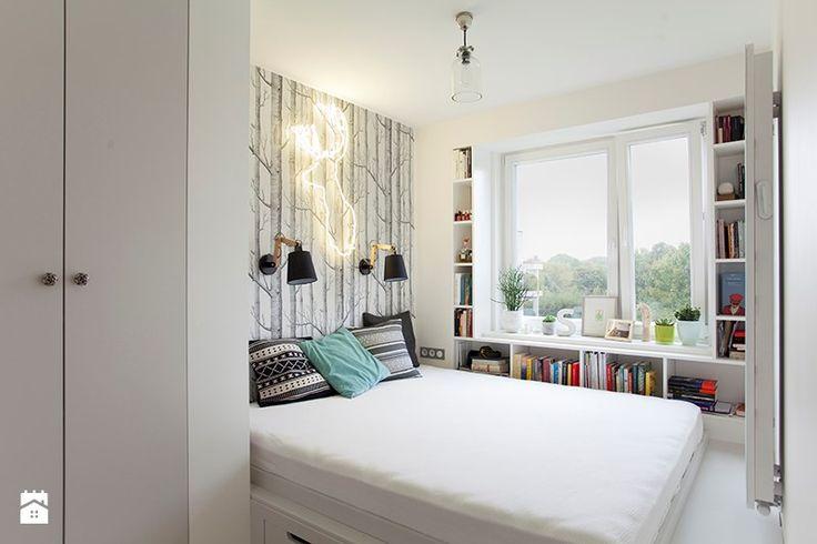 Mieszkanie 56m2 przy ul.Mozarta. - Mała sypialnia małżeńska, styl eklektyczny - zdjęcie od Boho Studio