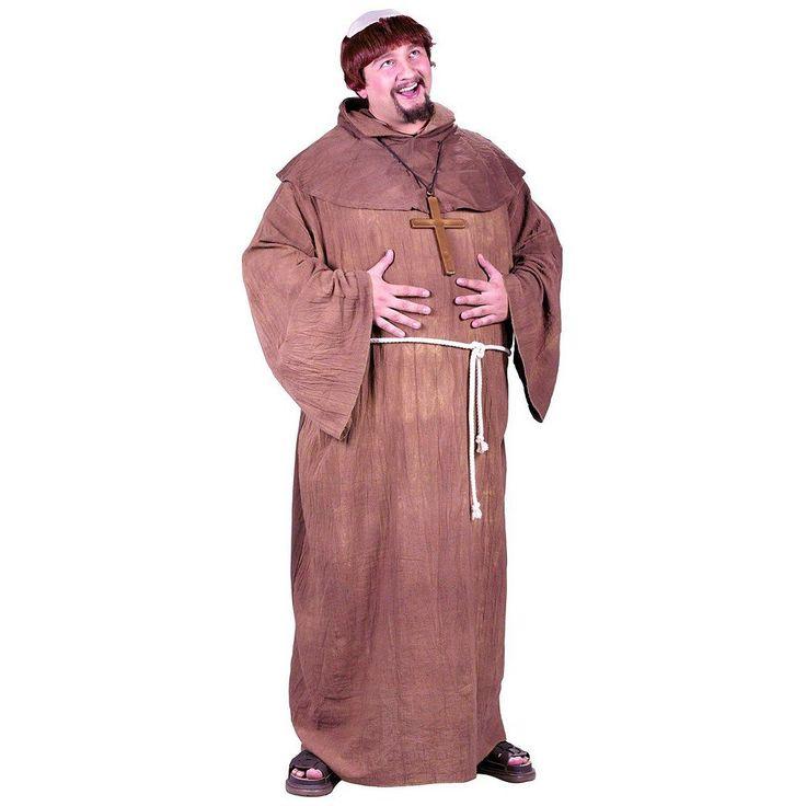Plus Size Medieval Monk Costume - Adult Plus, Men's, Brown