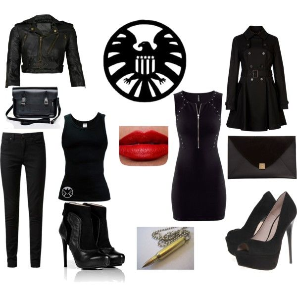 Okay guys, if you are going to be a S.H.I.E.L.D. Agent, you need the outfit. Dark colored, easy to move around in- if you can't run in the shoes, then they aren't good shoes. Everybody needs to choose one they like, then put it on our board. On Feb. 25 at 9:30 pm (mtn time) (no that's NOT where I am) I will choose the best three. Then we will start doing other things, more important things. (Trust me, this is NOT going to be a lame fashion board!)