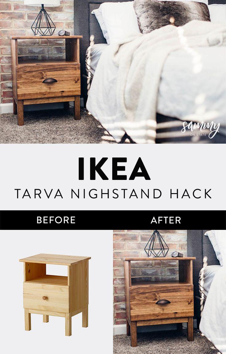 Simple IKEA Tarva Nightstand Hack