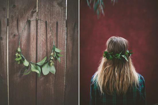 greenery crown | Photo by Paige Lowe