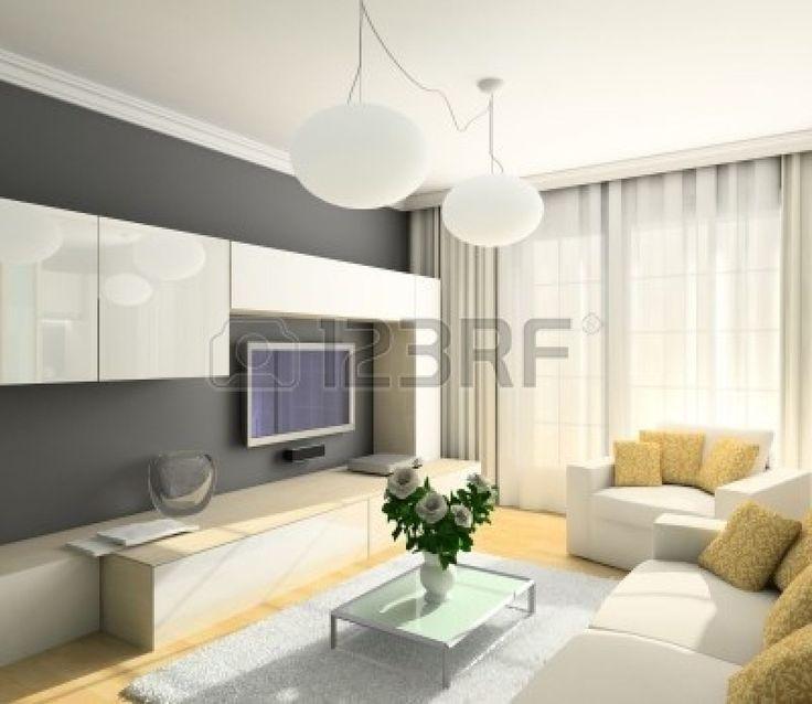 keuken wit strak modern bruine muur - Google zoeken
