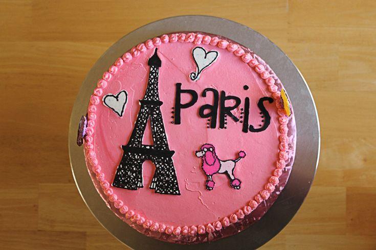 Magnificent Beautiful Paris Themed Birthday Cakes Slubne Suknie Info Funny Birthday Cards Online Alyptdamsfinfo