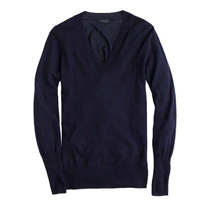 This sweater is at the very top of our list of wardrobe essentials. In soft merino wool with a flattering rib trim, it's one you can justify getting in multiples. <ul><li>Relaxed fit.</li><li>Hits at hip.</li><li>Merino wool in a 14-gauge knit.</li><li>Rib trim at neck, cuffs and hem.</li><li>Dry clean.</li><li>Import.</li><li>Online only.</li></ul>