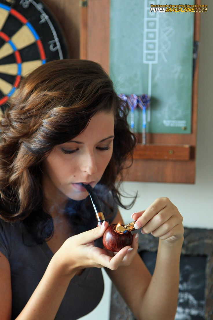 Girls smoking pipes...it's almost perverse.