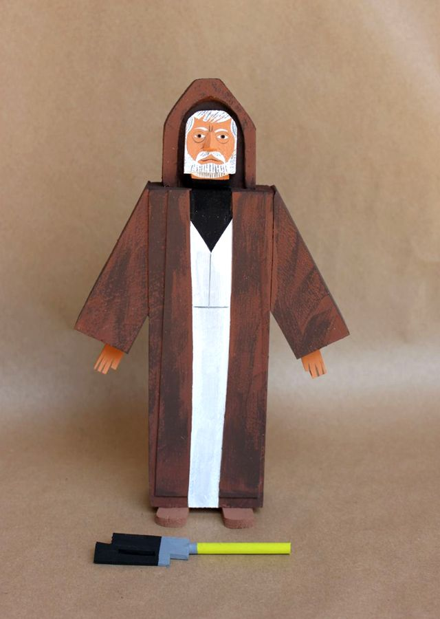 Wooden Star Wars Action Figures by Amanda Visell  May the Fourth be with you!