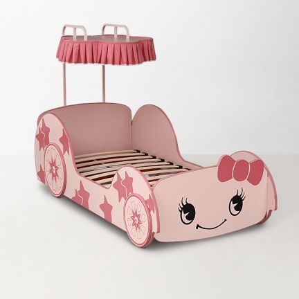 Beautiful kids car bed for your pretty girl!   #shop #online #pinkbed #kidsbed
