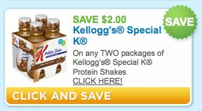 New $2.00 Off any TWO Packages of Kellogg's Special K Protein Shakes Coupon - Raining Hot Coupons