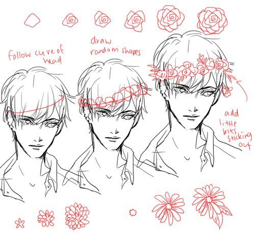 How to draw a flower crown tumblr flower crown drawing for How do i draw a flower