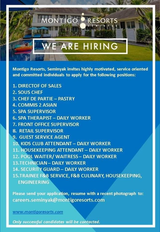 Montigo Resorts Seminyak Jobs News
