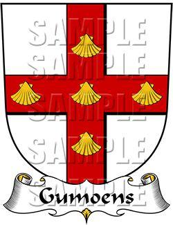 Gumoens Family Crest apparel, Gumoens Coat of Arms gifts