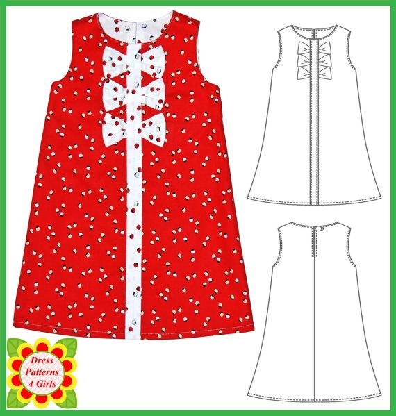 Adele Sewing Pattern for Children Girls by DressPatterns4Girls, $7.95