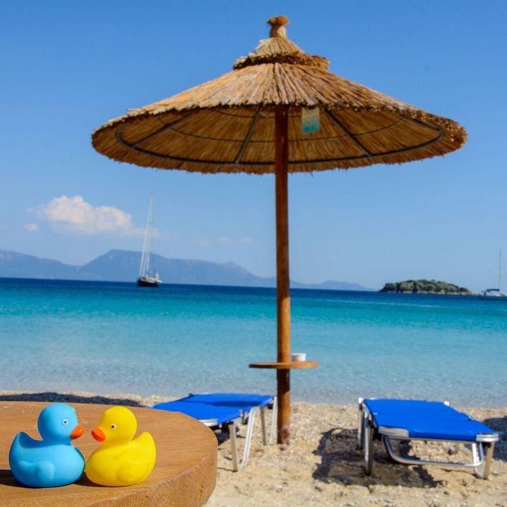 Blue... strange color blue  #blueduck #yellowduck #seatosee #greece #summer2017 #seaside