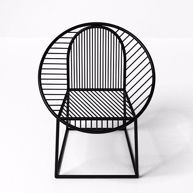 Circle Steel easy chair designed by Pool (2014)