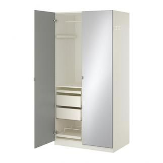 se vende armario blanco vikedal espejo en perfectas condiciones y con cajones