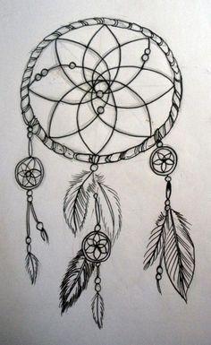 Dibujo De Atrapasueños A Lapiz Tatuajes Pinterest Drawings