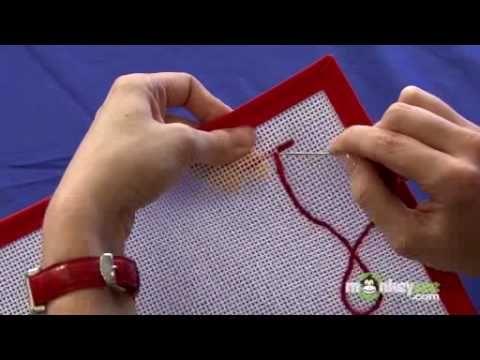 Needlepoint - Continental Stitch - YouTube