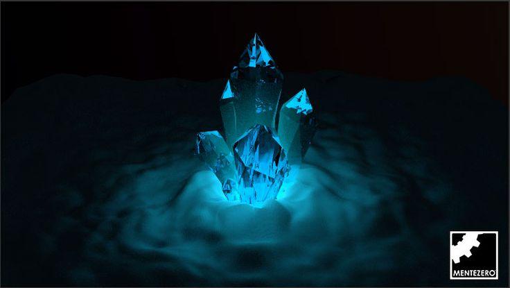 3D art by Alfredo Monaldi - MenteZero  #3d #art #sculpture #inspiration #blue #clouds #nebula #crystal #stone #render #rendering #amazing #surreal